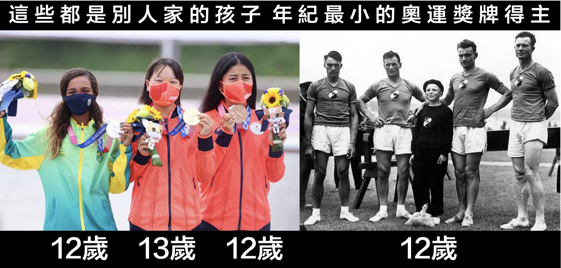 奧運史上神奇的一幕誕生了:冠亞季軍的平均年齡只有14歲。